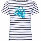 Camiseta niño/niña cuello redondo rayas 2020