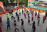 Las clases solidarias de 'Haz ejercicio por la EM' llegaron al municipio madrileño de Móstoles