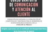 El 12 de noviembre arranca la segunda edición del Curso gratuito de Comunicación y Atención al Cliente