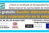 Nuevo curso gratuito en FEMM: Auxiliar Administrativo, gestión y organización en la empresa
